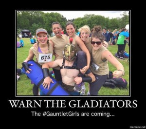 Gauntlet Girls warm the Gladiators
